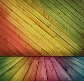 Uitstekend houten binnenland Stock Foto's