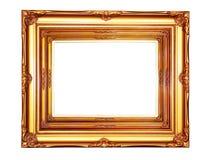 Uitstekend houten fotoframe Royalty-vrije Stock Foto's