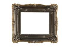 Uitstekend houten frame dat op witte achtergrond wordt geïsoleerde Royalty-vrije Stock Fotografie