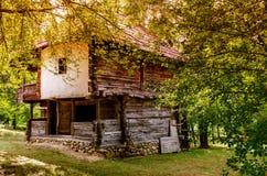 Uitstekend houten huis Royalty-vrije Stock Fotografie