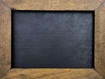 Uitstekend houten kader met zwarte achtergrond Royalty-vrije Stock Foto