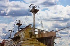 Uitstekend houten schip stock foto's