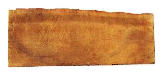 Uitstekend houten teken op wit Stock Fotografie
