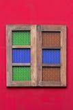 Uitstekend houten venster Stock Foto