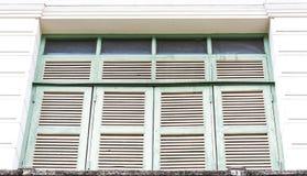 Uitstekend houten venster Stock Afbeelding