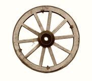 Uitstekend houten wiel Stock Foto's