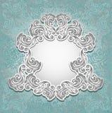 Uitstekend kader in blauwe zilveren kleur Royalty-vrije Stock Fotografie
