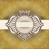 Uitstekend kader met kroon Royalty-vrije Stock Foto