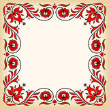 Uitstekend kader met traditionele Hongaarse bloemenmotieven Stock Afbeelding