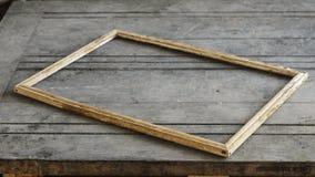 Uitstekend kader op houten achtergrond Stock Foto