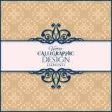 Uitstekend kalligrafisch kader Vector illustratie Royalty-vrije Stock Foto