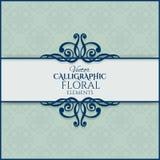 Uitstekend kalligrafisch kader Vector illustratie Stock Foto's