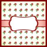 Uitstekend kantframe met rozen Royalty-vrije Stock Afbeeldingen