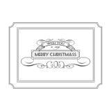 Uitstekend Kerstmisembleem met de woorden en de wensen Royalty-vrije Stock Afbeelding