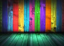 Uitstekend kleurrijk oud huisbinnenland stock illustratie