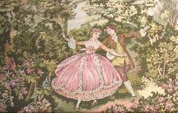 Uitstekend kleurrijk tapijt royalty-vrije stock afbeelding