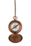 Uitstekend kompas op een ketting Royalty-vrije Stock Foto