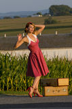 Uitstekend landmeisje Stock Afbeelding