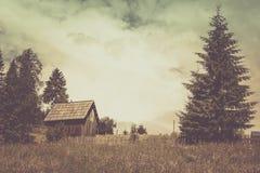 Uitstekend landschap met rustieke montages stock fotografie