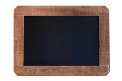 Uitstekend leeg bord met houten kader Stock Foto's
