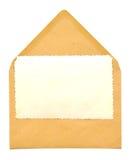 Uitstekend leeg fotoframe op envelop Stock Foto
