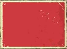 Uitstekend leeg metaalteken voor tekst of grafiek Vector retro lege achtergrond Rode kleur stock illustratie