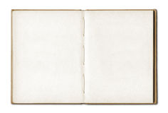 Uitstekend leeg open notitieboekje Stock Afbeelding