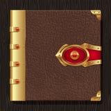 Uitstekend leerboek hardcover Royalty-vrije Stock Foto