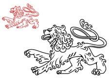 Uitstekend leeuwsilhouet Royalty-vrije Stock Foto's