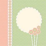 Uitstekend malplaatje met bloemen Stock Afbeelding