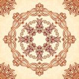 Uitstekend mandala naadloos patroon in Indische mehndi Stock Foto's
