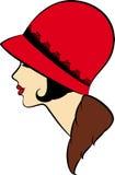 Uitstekend maniermeisje in hoed. Royalty-vrije Stock Afbeeldingen