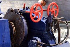 Uitstekend mechanisch materiaal op een schip Royalty-vrije Stock Afbeeldingen