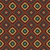 Uitstekend meetkunde naadloos patroon Stock Afbeeldingen