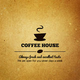 Uitstekend menu voor restaurant, koffie, koffiehuis Stock Foto