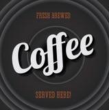 Uitstekend metaalteken - verse gebrouwen koffie Stock Foto