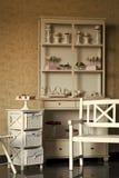 Uitstekend meubilair met snoepjes royalty-vrije stock afbeelding