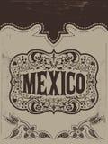 Uitstekend Mexico - Mexicaanse vectoraffiche vector illustratie