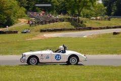 Uitstekend Mg sportwagen het rennen Royalty-vrije Stock Afbeelding