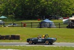 Uitstekend Mg sportwagen het rennen Stock Foto's