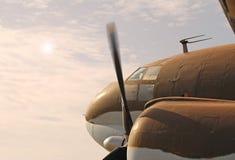 Uitstekend Militair Vliegtuig Stock Fotografie
