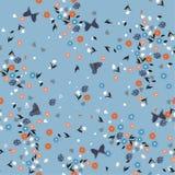 Uitstekend Mooi vrijheids Naadloos bloemenpatroon Achtergrond in vector illustratie