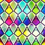 Uitstekend mozaïek naadloos patroon Stock Afbeeldingen