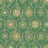 Uitstekend naadloos behang met bloemenornament Stock Afbeelding