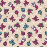 Uitstekend naadloos Kerstmispatroon vector illustratie