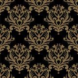 Uitstekend naadloos patroon Bloemen overladen behang Donkere vectord Stock Afbeeldingen
