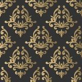 Uitstekend naadloos patroon Bloemen overladen behang Donkere vectord Stock Foto's