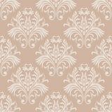 Uitstekend naadloos patroon Bloemen overladen behang Vectordamastachtergrond met decoratieve ornamenten en bloemen in Barokke sti royalty-vrije illustratie