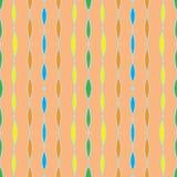 Uitstekend naadloos patroon, de textiel van jaren '60jaren '70 vector illustratie