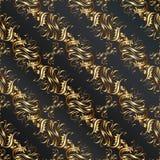 Uitstekend naadloos patroon met bloemenelementen Stock Foto